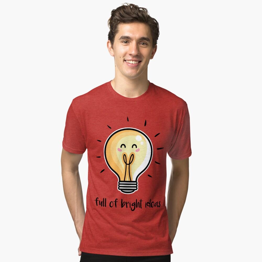 Kawaii Cute Lightbulb Of Bright Ideas Tri-blend T-Shirt
