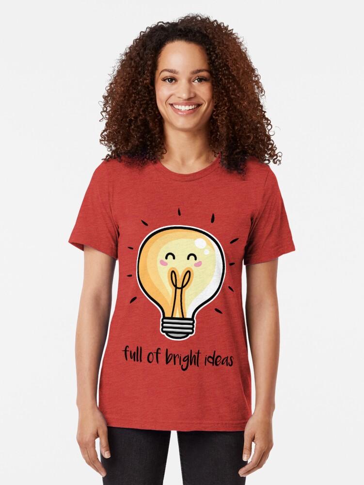 Alternate view of Kawaii Cute Lightbulb Of Bright Ideas Tri-blend T-Shirt