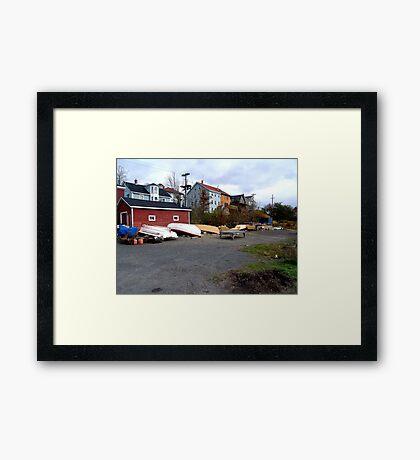 Lunenburg Scene Framed Print