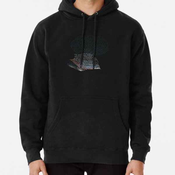Tropical Fish Diving in Ocean Abstract Art Pullover Hoodie