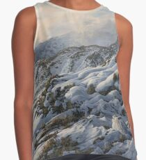 Winter Mountain Hare - Snow covered mountains Contrast Tank