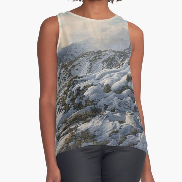 Winter Mountain Hare - Snow covered mountains Sleeveless Top