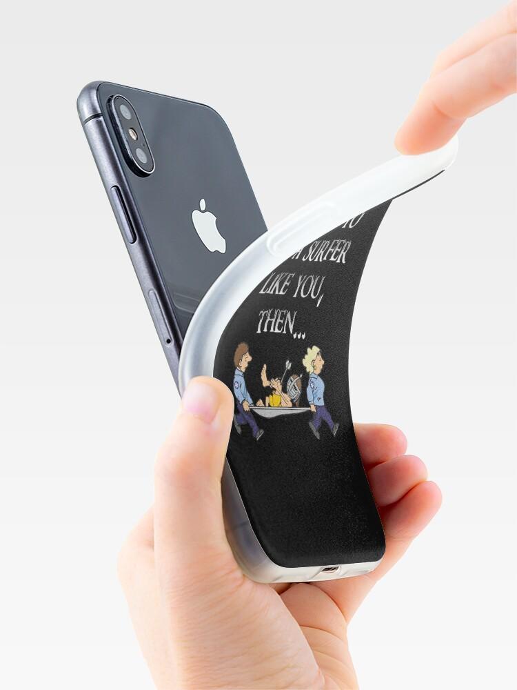 Alternative Ansicht von Skyrim Town Guard Surfer iPhone-Hüllen & Cover