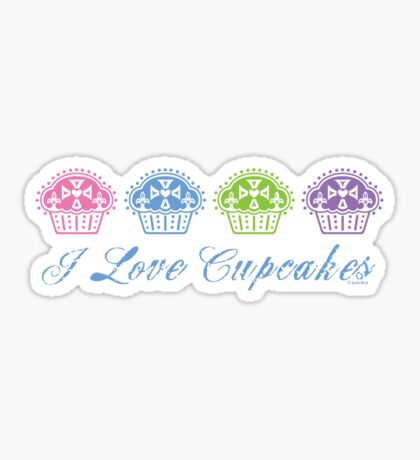I love cupcakes  Sticker