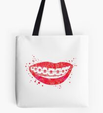 Teeth braces, dental anatomy Tote Bag