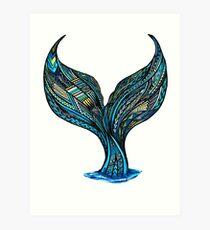 Lámina artística Samoan Mermaid Tail