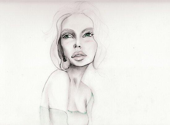 green-eyed girl by badspeller