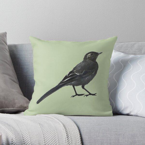 Little wagtail v2 dark Throw Pillow