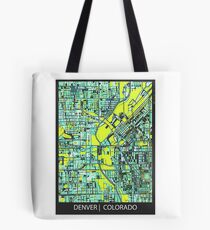 ABSTRACT MAP OF DENVER, CO Tote Bag