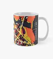 ABSTRACT MAP OF SOMERVILLE MA Classic Mug