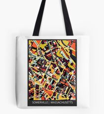 ABSTRACT MAP OF SOMERVILLE MA Tote Bag