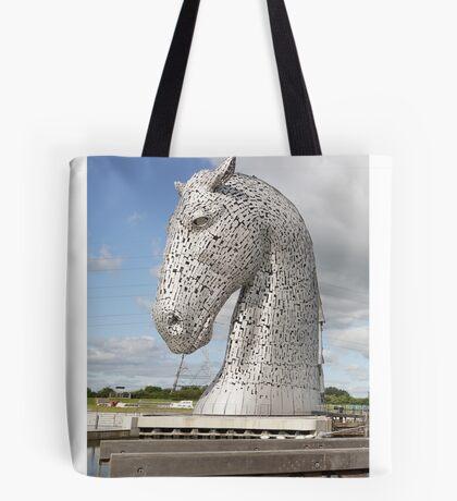 The Kelpies sculptures , Helix Park, Scotland Tote Bag