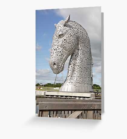 The Kelpies sculptures , Helix Park, Scotland Greeting Card