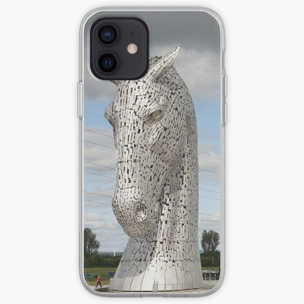The Kelpies sculptures , Helix Park, Scotland iPhone Soft Case