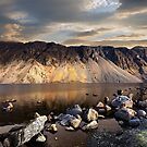Sunset over The Wastwater Screes by Martin Lawrence