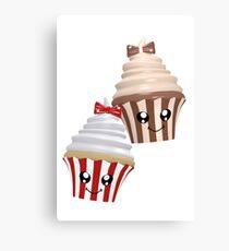 Cupcakes im Kawaii Stil Leinwanddruck