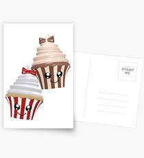 Cupcakes im Kawaii Stil Postkarten
