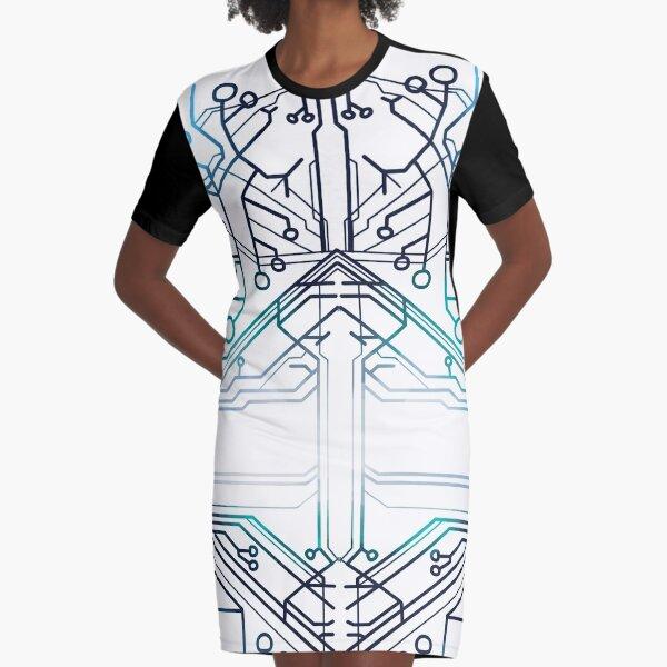 Squip's Hoodie Pattern Graphic T-Shirt Dress