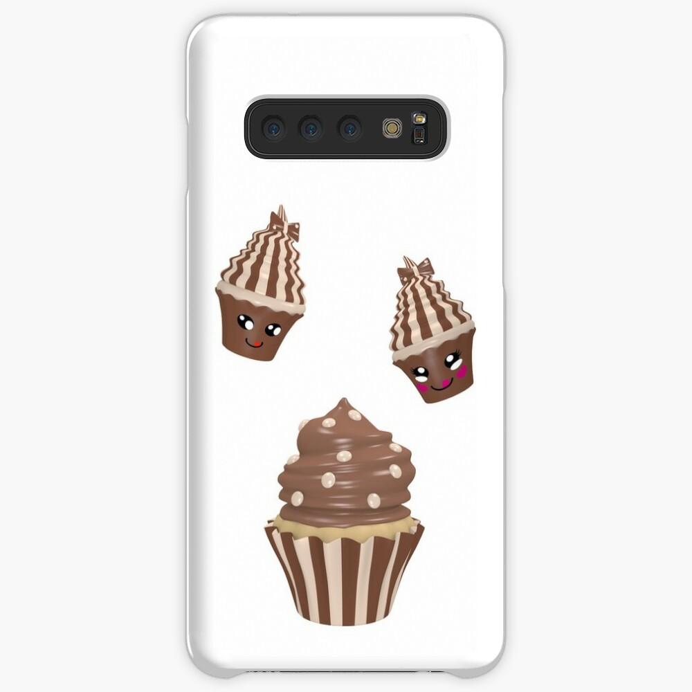 Schokoladen Cupcake Hülle & Klebefolie für Samsung Galaxy