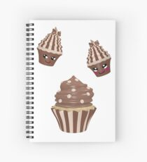 Schokoladen Cupcake Spiralblock
