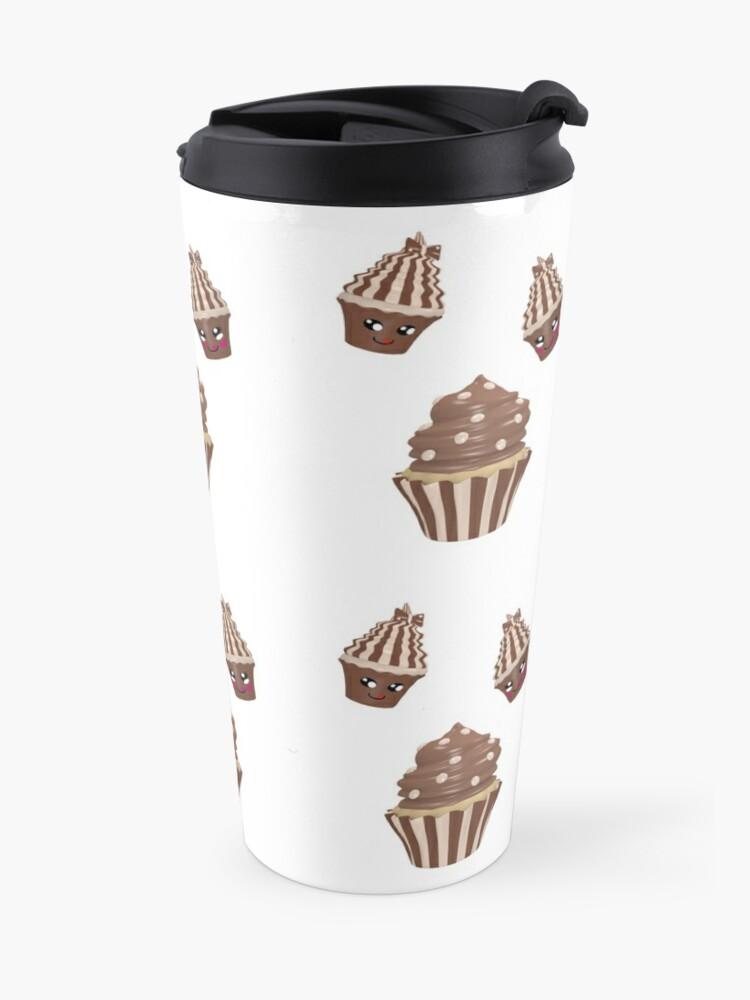 Alternative Ansicht von Schokoladen Cupcake Thermobecher