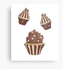 Schokoladen Cupcake Metalldruck