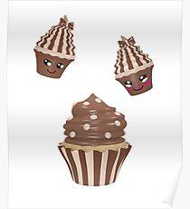 Schokoladen Cupcake Poster