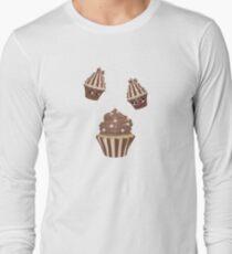 Schokoladen Cupcake Langarmshirt