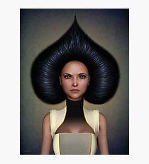 Queen of spades portrait Photographic Print