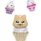 Cupcake mit Kätzchen von Stefanie Keller