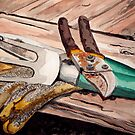 The Gardener's Tools by Jim Phillips