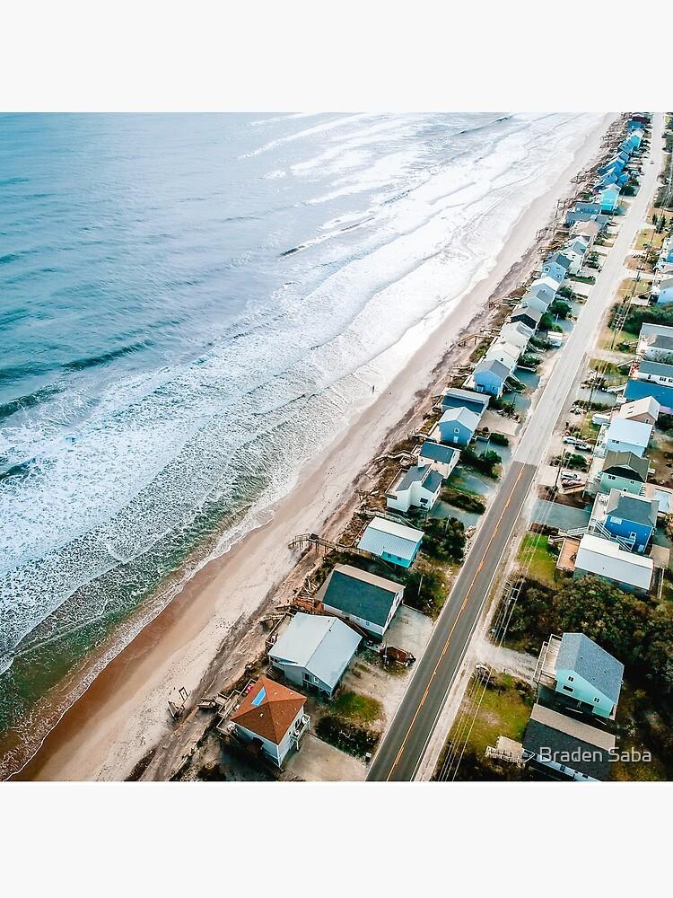Farbbearbeitung des Strandes von oben von bsaba