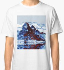 Chinese mountain lake and boat Classic T-Shirt