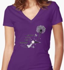 Away with the fairies Women's Fitted V-Neck T-Shirt