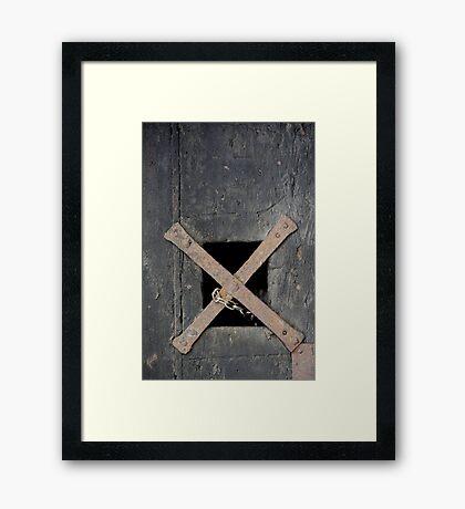 'X'  Framed Print