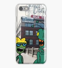 ZEEK from Mars & Nurdy from Venus visit Old Town Portland iPhone Case/Skin