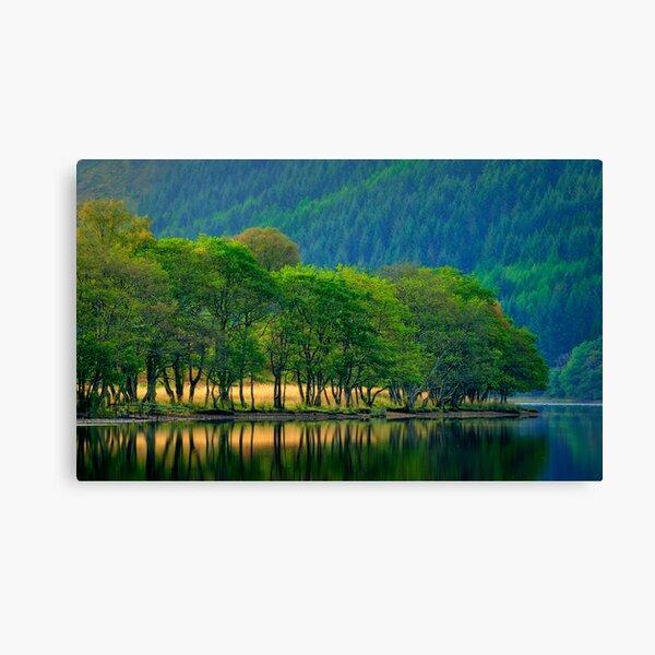 Loch Chon, morning light... Canvas Print