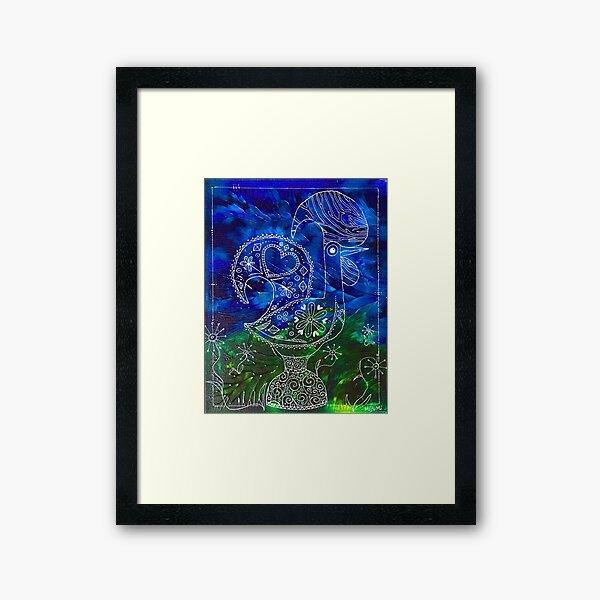 Galo de Barcelos Doodled Framed Art Print
