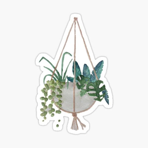 Hängender Pflanzer 1 Sticker