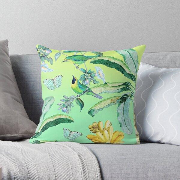 Jungle Dream - Green Throw Pillow