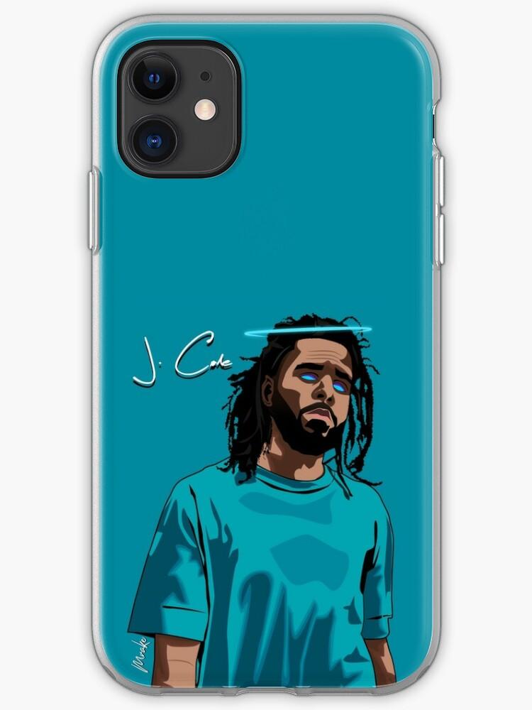 J Cole Fan Art iphone case
