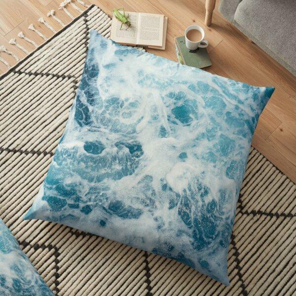 Sea Waves in the Ocean Floor Pillow
