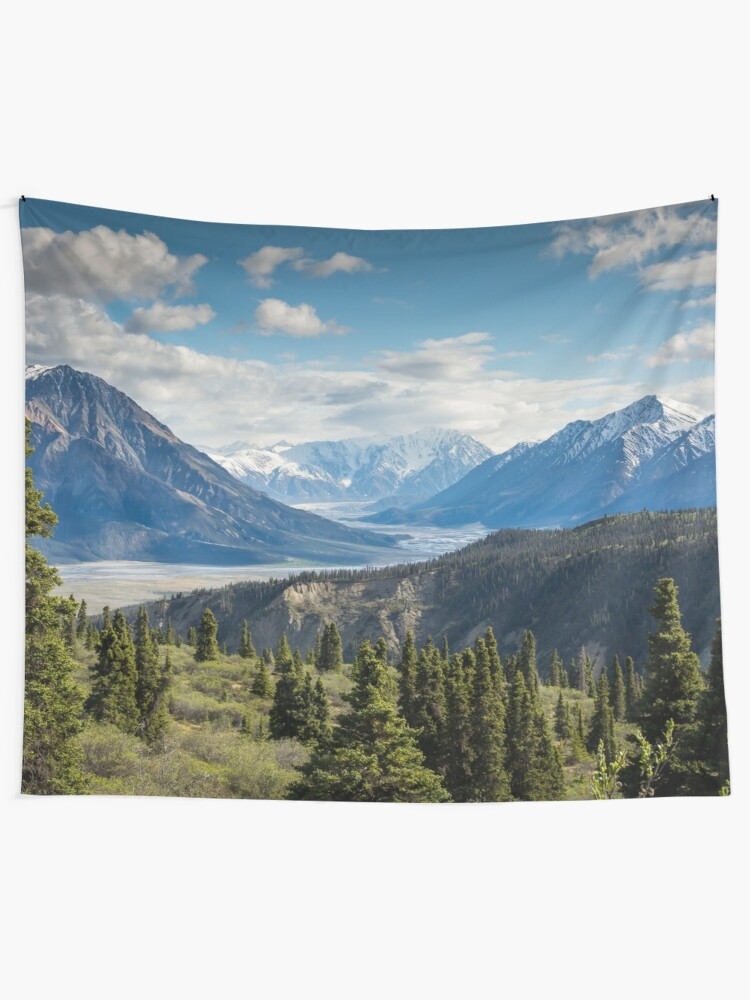 Alternate view of Forest Mountains River National Park Nature Photography Wall Art Tapestry