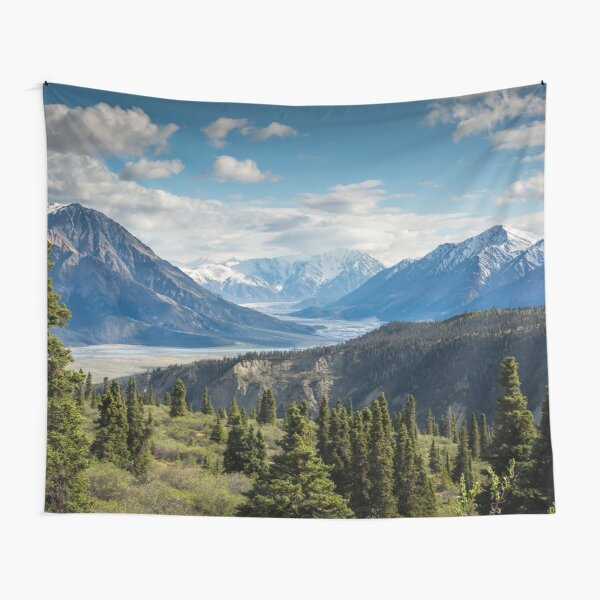 Forest Mountains River National Park Nature Photography Wall Art Tapestry
