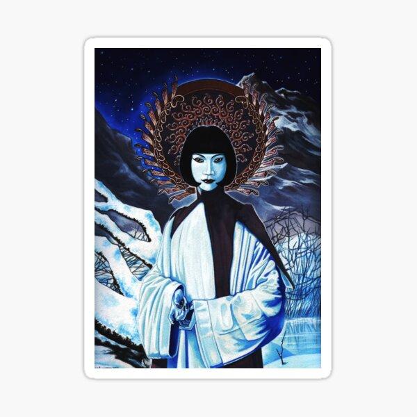 White Tara by Stuart Littlejohn Sticker