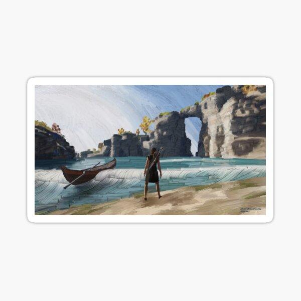 Greek beach Sticker