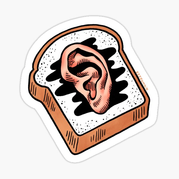 Ear Toast Sticker