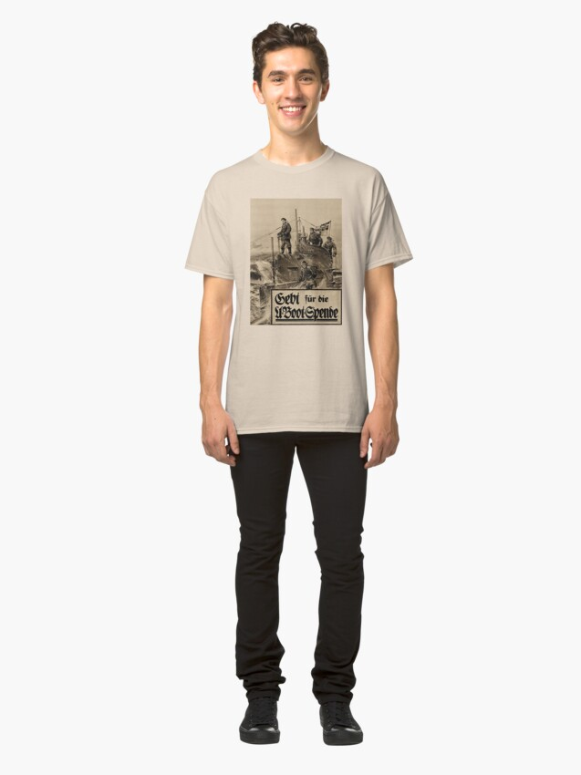 Alternate view of WWI Bond Drive, Give for our U-Boats Classic T-Shirt