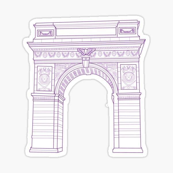 NYU Arch Washington Square Park Purple Sticker