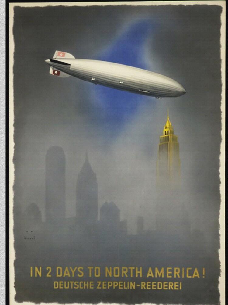 "Zeppelin ""Hindenburg"" approaching Empire State Building by edsimoneit"